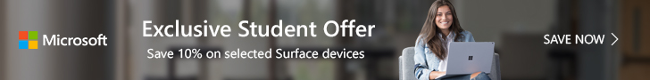 Exclusive Student Offer Save 10% on selected Surface devices