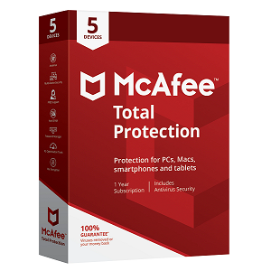 McAfee Total Protection 5 Devices